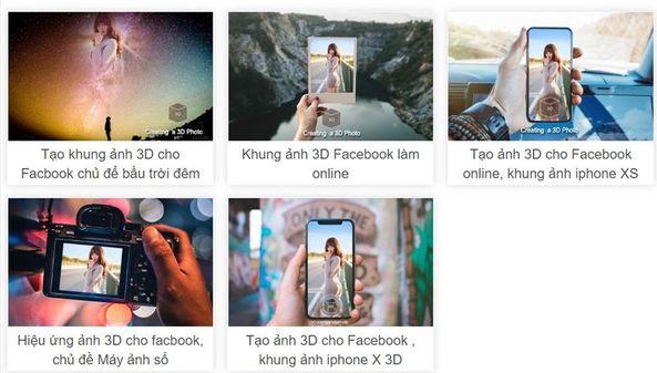 cách tạo ảnh 3D đăng lên Facebook không cần photoshop