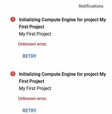 Fix lỗi không tạo được VPS trên Google Cloud