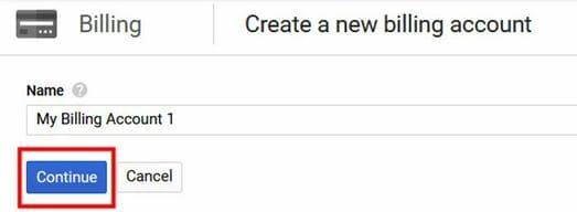 Fix lỗi không tạo được VPS trên Google Cloud tạo billing mới