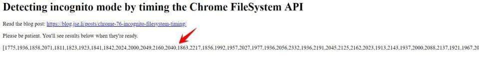 Phát hiện chế độ ẩn danh thông qua thời gian truy cập