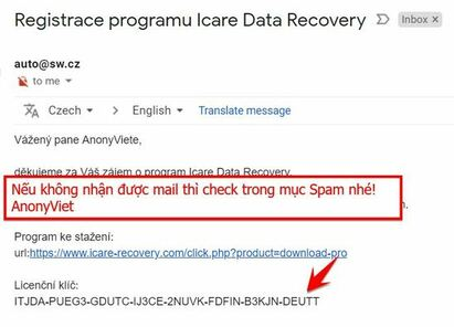 share key iCare Data Recovery Pro