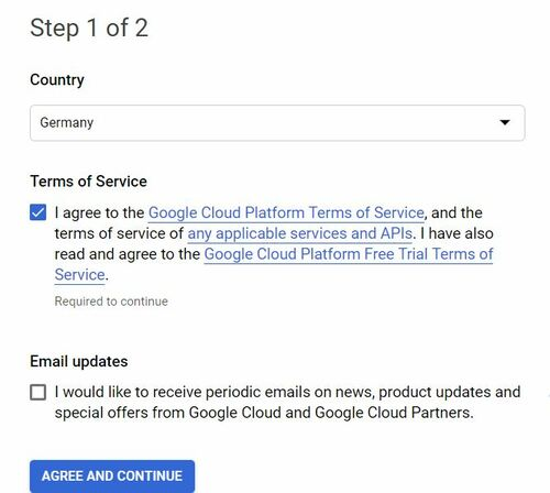 Free Trial của Google Cloud 300$