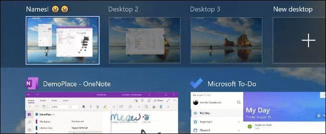 Đổi tên Desktop ảo