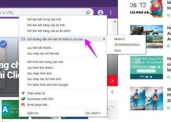 """Cách sử dụng tính năng """"Gửi đến các thiết bị của bạn"""" trên Chrome 3"""