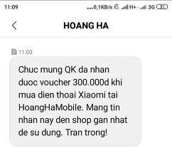 Cách nhận mã giảm giá đến 300k khi mua điện thoại XIAOMI 3