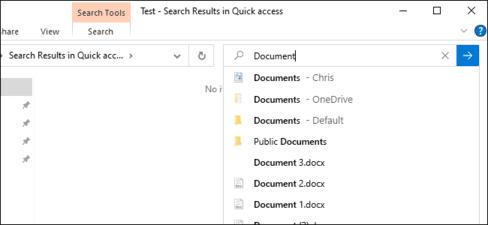 Tìm kiếm file trực tuyến trong File Explorer