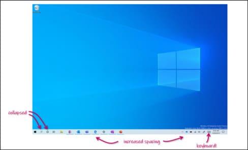 Chế độ Tablet thêm nhiều trải nghiệm mới windows 10 20H1