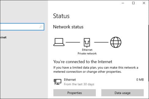 Thông tin về kết nối mạng