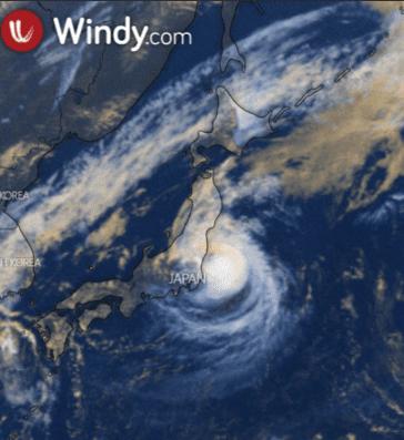 Bản đồ vệ tinh windy