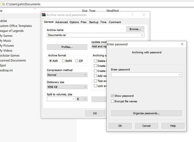 Đặt mật khẩu cho files