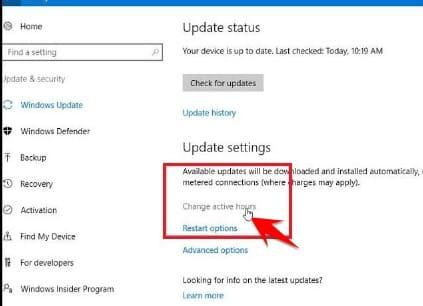 Tắt Tính Năng Tự Restart sau khi Update Windows