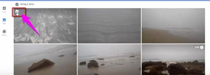 Dùng phím Shift để chọn tất cả ảnh để xóa trong Google Photos
