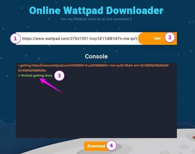 Cách Download truyện từ Wattpad về máy tính để xem Offline
