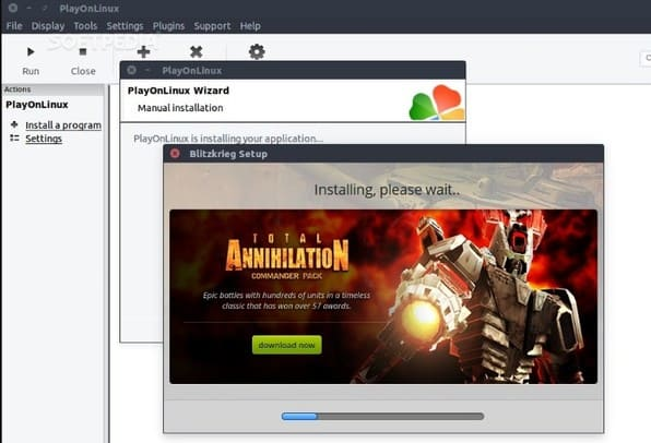 play game windows playonlinux
