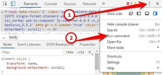 Chụp ảnh màn hình của Website bằng Chrome DevTools