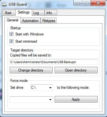 tùy chỉnh startup Secret USB Copier