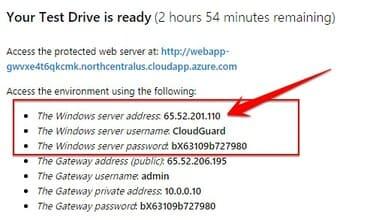 thông tin đăng nhập VPS Windows 3h