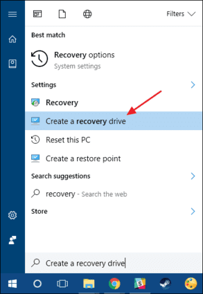 Recovery Drive Creator