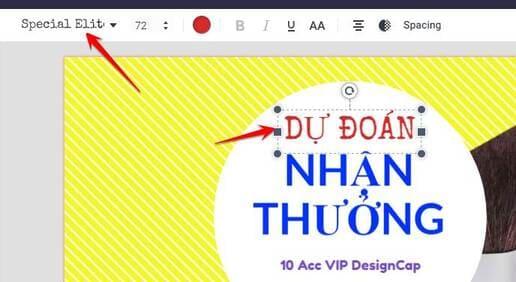 Đổi Font chữ designcap