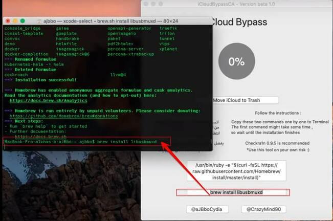 Copy code bên dưới vào iCloudBypassCA