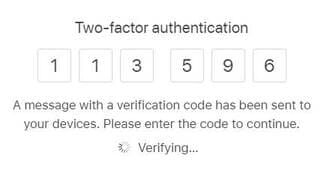 nhập mã xác minh