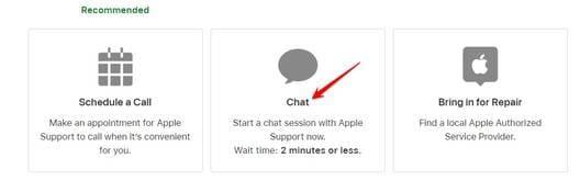 Chat nhân viên apple