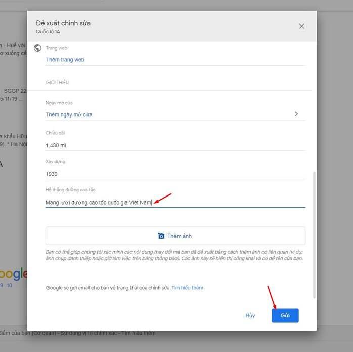 [Kêu gọi] Chung tay chỉnh sửa lại thông tin Quốc lộ 1A trên Google 3