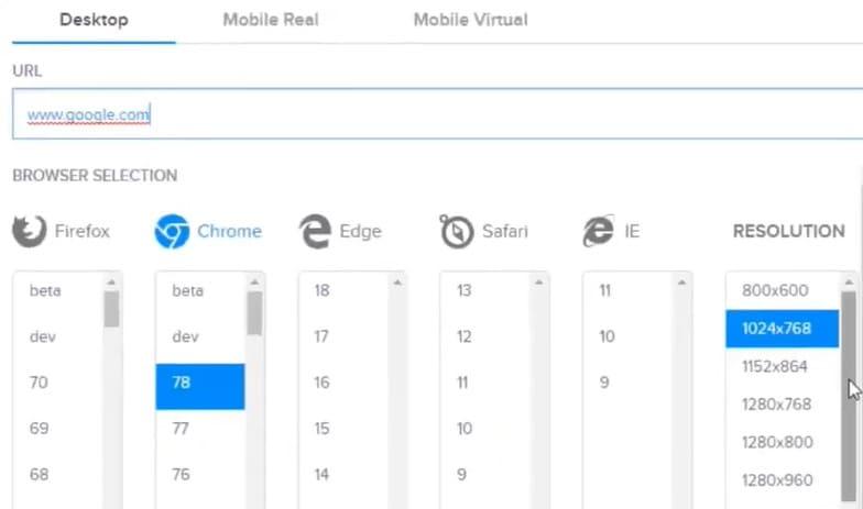 chọn độ phân giải và trình duyệt cho VPS Windows 10 RAM 3GB