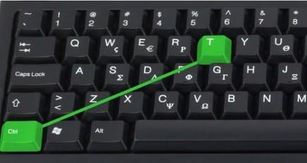 Ctrl + T mở một tab mới - F6 di chuyển đến thanh địa chỉ