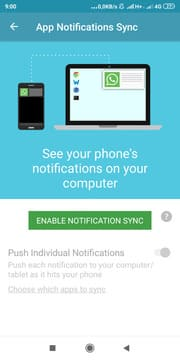 Enable Notifications Sync
