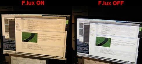 Dùng f.lux để điều chỉnh độ sáng màn hình