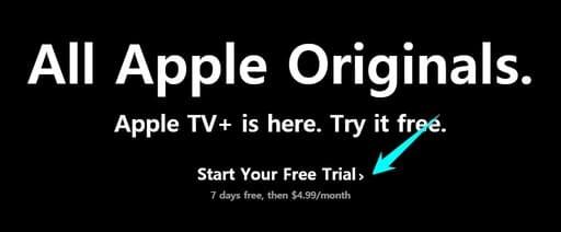 Đăng ký Apple TV+ 1 năm miễn phí bằng Website