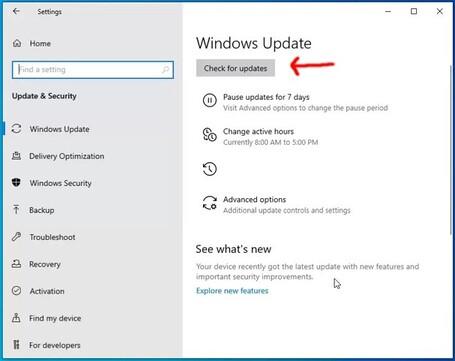 windows update win 10