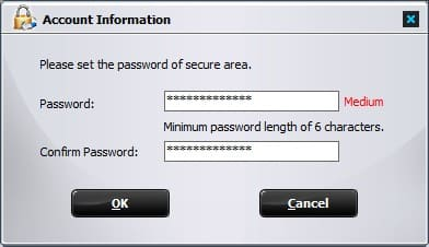 đặt password GiliSoft USB Encryption