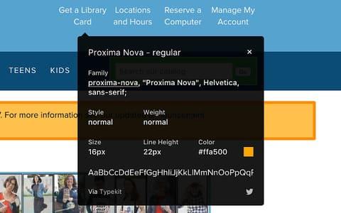 WHATFONT - Tìm tên Font của trang web