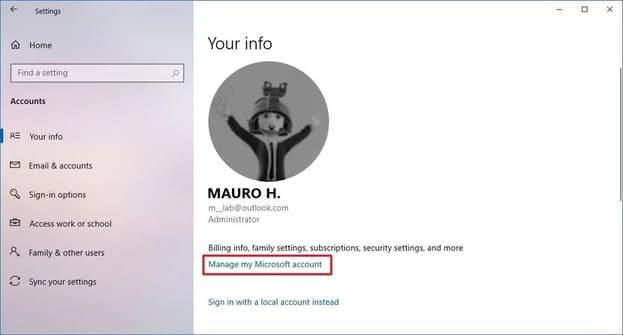 Đổi username đăng nhập windows 10