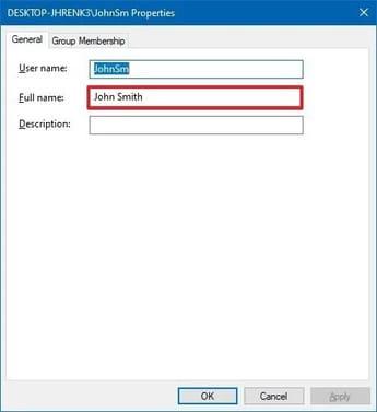 Cách thay đổi tên tài khoản trên màn hình đăng nhập Windows 10 2