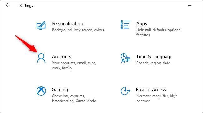 Chuyển sang tài khoản cục bộ từ tài khoản Microsoft Account