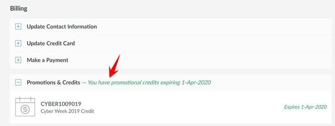 promotions credits vps linode