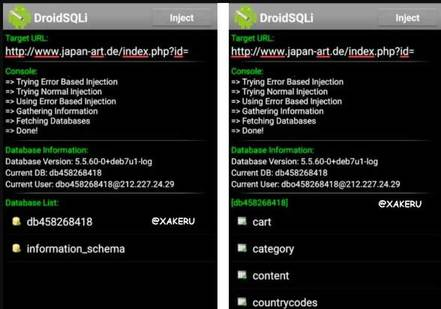 DroidSQLi quét lỗ hỏng bảo mật Website trên Android