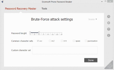 ELCOMSOFT PHONE BREAKER attack password
