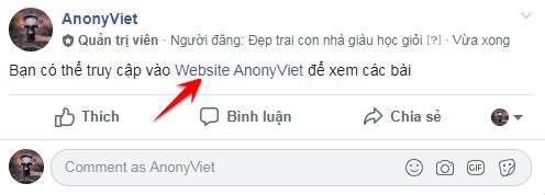 tạo link liên kết trên Facebook bằng tên rút gọn
