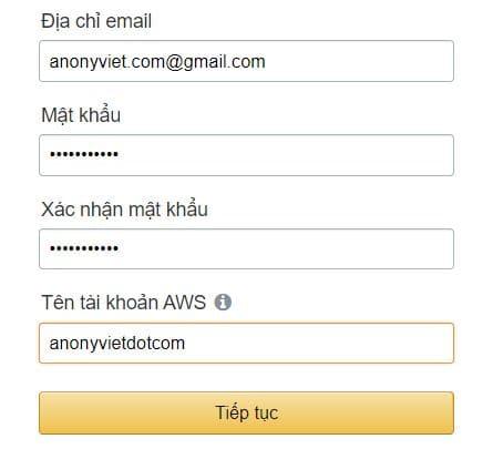 tạo tài khoản VPS Amazon AWS Lightsail