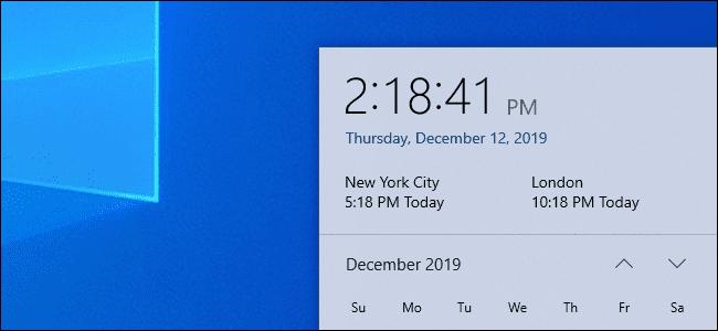 Cách xem nhiều múi giờ trên Taskbar của Windows 10