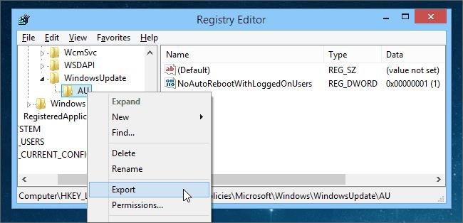 Tạo hack Registry