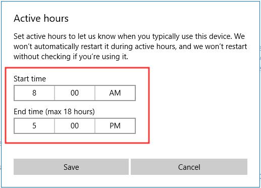 Quản lý thời gian Update của Windows