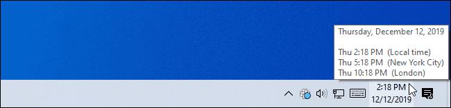 Cách xem nhiều múi giờ trên Windows 10 bằng Taskbar và Start 3