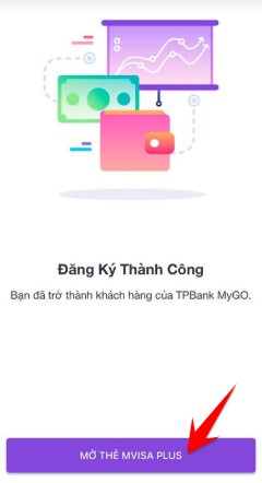 mở thẻ mVISA PLUS miễn phí tpbank