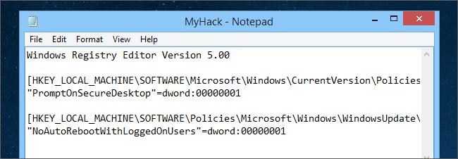 Thêm key vào hack Registry