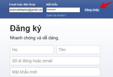đăng nhập facebook để hack pass